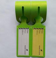 20pcs Gute Travel Letter Kofferanhänger 2020 neue einfache Gepäckanhänger Spielzeuge Reisetasche Zubehör Anhänger Tragbare Etiketten