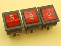 Spedizione gratuita 50 pz ac 250 v / 15a 125 v / 20a on / off / on 3 posizione DPDT 6 pin luci rosse barca interruttore a bilanciere