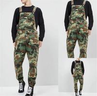 Camouflage Denim Mens Overalls Designer Printed Jeans-Overall Mode schlanke Männlich Kleidung