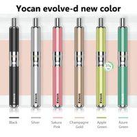 Authentic Yocan Evolve-D Kit Evolve Kit Kit Herb Herb E-Cigaretta VAPorizer Dual Coil 5 Colors Vape Pen Plus
