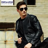 PortLotus Erkekler PU Yün Liner Ceket Kalın Kadife İç Coats İçin Kış Yeni Erkek Saf Renk Biçimsel Clothing215HDLB8605