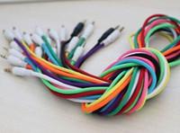 3.5mm gevlochten geweven mannetje aan mannelijke mm audio aux kabel stereo hulpkoord voor iphone 4 auto voor iphone 5 5s voor telefoon mp3,200pcs