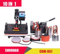 رخيصة 30 * 38 سنتيمتر 10 في 1 كومبو الحرارة الصحافة آلة طابعة التسامي آلة نقل الحرارة 2d ل كاب القدح بلايز بلايز ce الموافقة