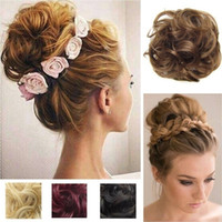 Chignons Extension Bun Hairpiece Scrunchie Elastic Wave Curl...