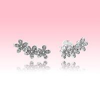 Аутентичные серебряные серебро 925 Серьги стерлингового серебра 925 Женщины Девушки Летние Ювелирные Изделия с оригинальной коробкой для Pandora CZ Diamond Серьги Набор