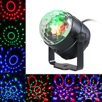 Led escenario lámpara DJ KTV Disco Luz láser Luces de fiesta Sonido Control remoto IR Proyector de Navidad Mini RGB 3W Crystal Magic Ball Reino Unido EE. UU. UE AU