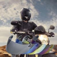La cara llena de la motocicleta del viento Escudo Casco protector de la lente visera en forma para el AGV K3SV K5