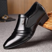 Men' s small leather shoes business dress casual shoes 2...
