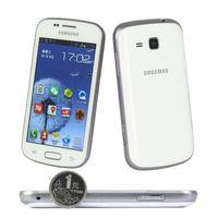 هاتف سامسونج GALAXY تريند DUOS II S7572 الجيل الثالث 3G 4.0Inch 768MB RAM 4GB ROM Android4.1 WIFI GPS ثنائي النواة مفتوح الهاتف المحمول