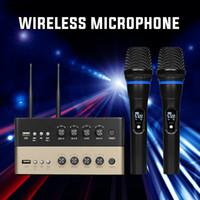 X6 uhf ميكروفون لاسلكي بلوتوث البناء في بناء مكبر للصوت ل المسرح المنزلي الصوت مشغل dvd مرحبا فاي المتكلم الهاتف المحمول usb