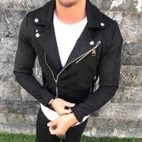 Мужские пальто вскользь пальто краткости отворот длинного рукав Zipper Outwear Теплого Slim Fit Мужской Куртка Горячего