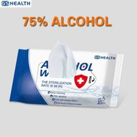 10sheets / paquete portátil de alcohol toallitas húmedas Antiséptico Desinfección Esterilización toallitas Skin Care 75% da el paño de limpieza Toallitas