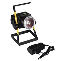 T6 LED Rotating Zoom Proiettore Spotlight Ricaricabile Searchlight Long Range Night Light Illuminazione esterna portatile impermeabile