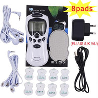 Elektrische Herold Tens Akupunktur Body Mucle Massager Digital-Therapie-Maschine 8 Pads für den Nacken Fuß Bein Gesundheitswesen