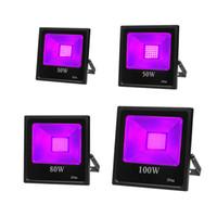 365 нм 30 Вт 50 Вт 80 Вт 100 Вт УФ-прожектор Черный свет, IP65 водонепроницаемый 395 нм-405 нм для вечеринки, сцены, краской, коллекции, Aquarium.etc. UU UK US Plug