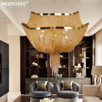 Modern Avize Işık İtalyan Püskül Alüminyum Zincir S Altın / Gümüş Lustres Çağdaş Avize oda Foyer Living için Lamba Asma