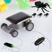 DIY Мини солнечный автомобиль Работает робот солнечная игрушка автомобиля Обучающие солнечной энергии комплекты Новизна Кузнечик Таракан Gag игрушки насекомых для детей
