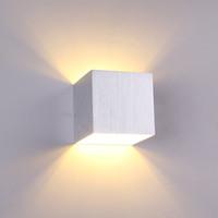 ساحة الصمام الجدار مصباح الجدار ضوء الجدار الداخلي نوم ac85-265 فولت 3 واط دافئ أبيض السرير شرفة الشمعدانات الممر مصابيح غرفة المعيشة أضواء الحمام