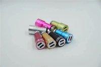 Marteau de sécurité des ports USB double en acier inoxydable Adaptateur chargeur de voiture 2A pour iPhone xs s10 max samsung