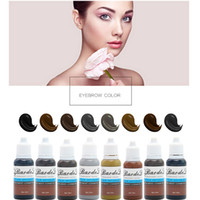 Nuovo inchiostro del tatuaggio permanente Microblading Pigmentos Make-Up Set 15ml estetica mini-Pigment Cosmetic Eyebrown tatuaggio del labbro Pigmento