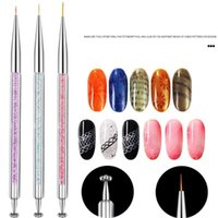 Nail tool manicure multi-function pen opal magnet painting brush line marker pen description pen double headed
