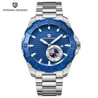 2018 جديد أزياء الرجال الساعات الميكانيكية الفاخرة العلامة التجارية PAGANI DESIGN الفولاذ المقاوم للصدأ الرياضة للماء دروبشيبينغ ساعة اليد للرجال