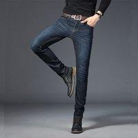 BINHIIRO Automne Hommes Jeans couleur unie Micro-élastique Classique Hommes Jeans Slim droite Mode Denim Pantalons homme 2019 Nouveau K009 CX200701