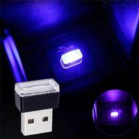 1 peça USB LED Mini Atmosfera Sem Fio Luz Car Interior Acessório Acessório Universal