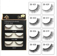 3D Mink Eyelashes 3Pairs Natural Handmade Faux Mink False Ey...