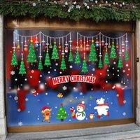 Noel Süsleri Sticker DIY Noel Baba Kardan Adam Noel ağacı Duvar Sticker Mağaza Pencere Kapı Süsleri Noel Çıkartma TQQ BH0215