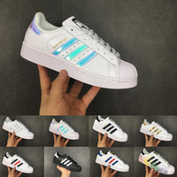 2018 Casual Originals Superstar White Hologram Iridescent Ju...