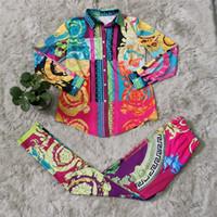 Mode Frauenanzüge mit heißer Verkauf Digitaldruck Sportart Zwei Teile Anzug Trainingsanzug Frauen Winter Outfits Frauen Kleidung