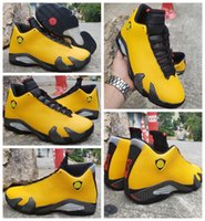 2019 New 14 Mens Basketball Shoes Yellow Black Trainers Spor...