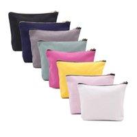 Kosmetische Taschen Hüllen 16z-Plain-Baumwolle-Leinwand-Boots-Tasche 12Oz-Reise-Kultur- Make-up-Gold-Reißverschluss-Tasche