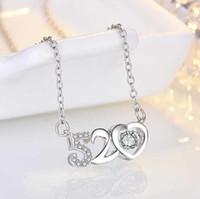 Venta al por mayor Torque 2020 Love Dual Circle 520 Colgante Collar de color de plata de oro Rosa para mujer Joyería de traje de cuello vintage