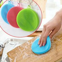 6 Colors Magic Silicone Dish Bowl Cleaning Brushes Scouring ...