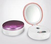 DHL 무료 나노 미스트 분무기 얼굴 증기선 LED 메이크업 미러 휴대용 USB 전원 은행 미니 모이스춰 라이징 얼굴 바디 스프레이 스킨 케어