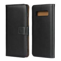 Coque En Cuir Véritable Flip Case Pour Samsung Galaxy S10 Plus Couverture Wallet Case Casing S10e S10 + Téléphone Mobile Cas Fundas s10plus GalaxyS10