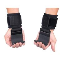 2шт Тяжелая атлетика крюк сцепление наручные ремни перчатки Тяжелая атлетика силовые тренировки тренажерный зал фитнес крюк