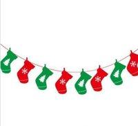 2019 جديد وصول أعلام عيد إمدادات حزب ملون راية زينة ديكور المنزل أعلام سانتا كلوز سنو رجل عيد الميلاد العلم