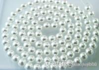 Novo 1000 Pçs / lote branco 8mm Imitação de pérolas Solta pérola Acrílico Branco Pérola Beads Resina DIY Hot Spacer para Jóias F294w k23