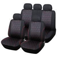 Universal Autositzabdeckung Siamesischer PU-Leder-Doppel-Vordersitze Abdeckungen Armaturen Limousinen Auto Innenausbau Beschützer F-06