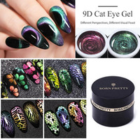 Soak 60 Farben Off UV Gel Polish 5D 9D Magnetic Gel Maniküre Nail Art Lack Lack BORN PRETTY Cat Eye Gel-Nagellack