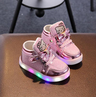 Kids Casual Lighted Shoes Girls Glowing Sneakers Children He...