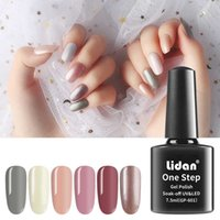 Lidan 52 colors 7ML Upgrade Paint for Nails One Step 3 In 1 ...