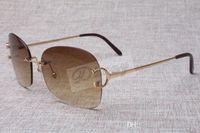 핫 도매 중립 틀없는 금속 선글라스 4193829 남성의 높은 품질 패션 선글라스 무료 배송 크기 : 62-18-135mm