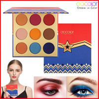 Maquillaje Sombra de ojos Paleta 9 Color Paleta de sombras de ojos Docolor Sombra de ojos diosa Matte Bronze Shimmer Paleta de sombras de ojos Marca de belleza Cosmética