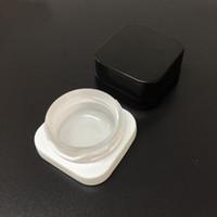 5ml atacado Jar Cubo de vidro com tampa Criança resistente superior de vidro quadrado Concentrado Jar Grosso Oil Dab Container