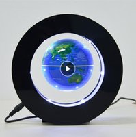 Creatività floating levitazione magnetica Globe Night Light World Map lampada della sfera della novità di illuminazione Office Home Decor Globo Terrestre