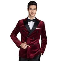 c4b847b87b0 ... brand clothing casual suit Slim Jacket Single Button corduroy blazer  men dress suits Terno Masculino plus size. US  31.48   Piece. New Arrival